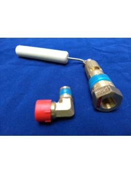 80% afslag/vulklep 265-375 cilindertank