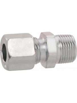 Rechte koppeling 8mm x 1/8 Buiten